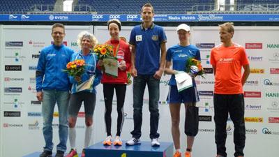 Sieger Frauen und Männer Platz 1 -3