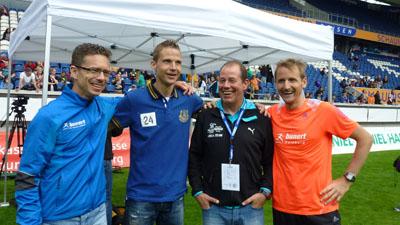 von links Björn Tertünte ,Christian Bröring, Altmeister Jörg Bunert und Karsten Kruck