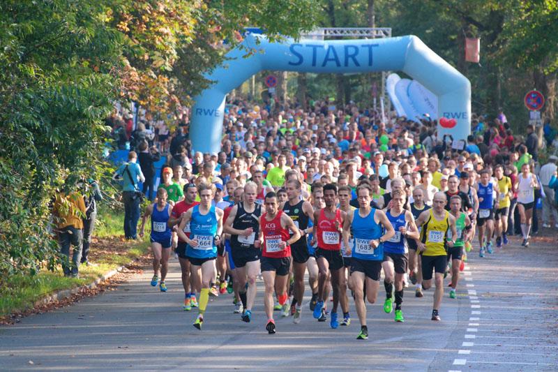 Start des Marathons - Bild Laufszene