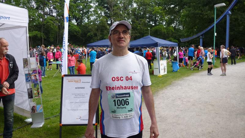 Wolfgang Ettwig vor dem Start des 31. Rhein-Ruhr-Marathons am 01.06.2014