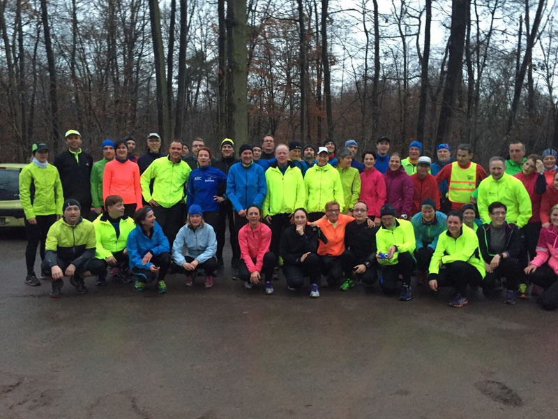 Teilnehmer Eröffnung Marathonkurs des LC Duisburg am 03.01.2015